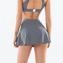 S-XXXL, однотонные женские юбки для тенниса, для бадминтона, для гольфа, для танцев, с высокой талией, для фитнеса, для тренировок, для занятий сп...