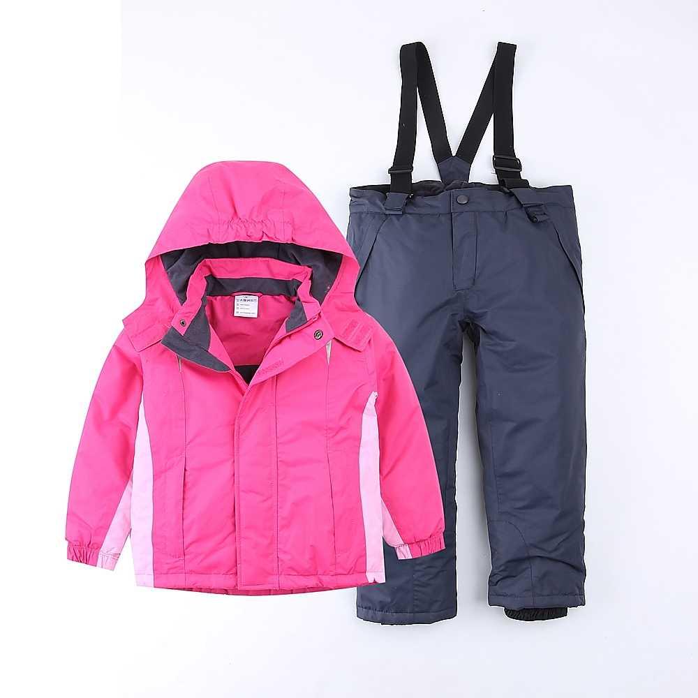 ส่งออกยุโรปอบอุ่นชุดสกีหิมะเสื้อและกางเกงสกีกันน้ำOverallsทารกเบาะฤดูใบไม้ร่วงฤดูหนาวWindproof EU 116/122