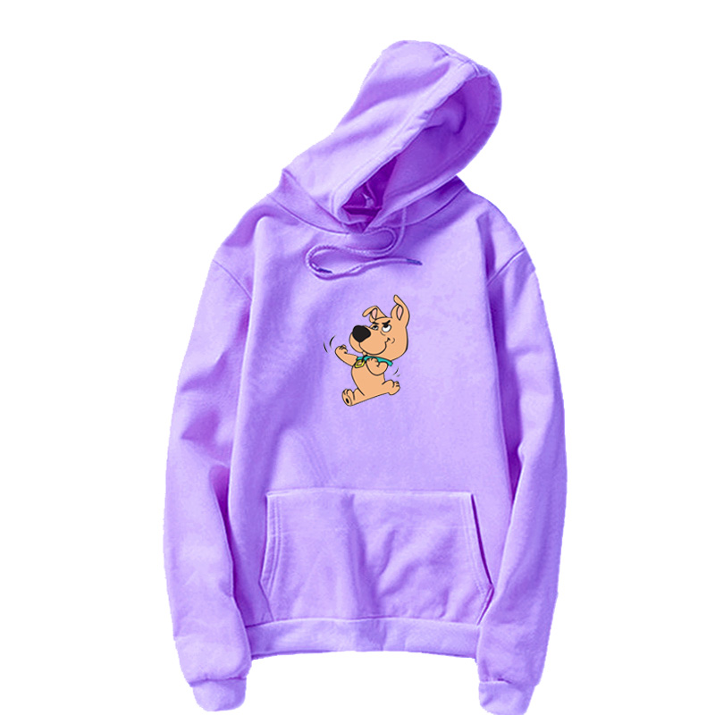 New Winter Women's Hoodie Full Sleeve Cute Dog Print Sweatshirt Kawaii Hoodie Female Kung Fu Dog Sudaderas Mujer
