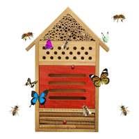 Inseto abelha casa de madeira inseto casa de abelha bug quarto hotel abrigo jardim decoração ninhos caixa casa de abelha|Ferramentas de apicultura|   -