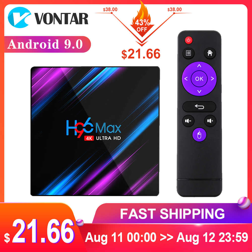 2020 H96 MAX RK3318 akıllı TV kutusu Android 9 9.0 4GB 32GB 64GB 4K Youtube Media player H96MAX TV kutusu Android TV seti top box 2GB16GB