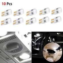 10 шт белый canbus t10 светодиодный лампы w5w 3030 smd автомобиля