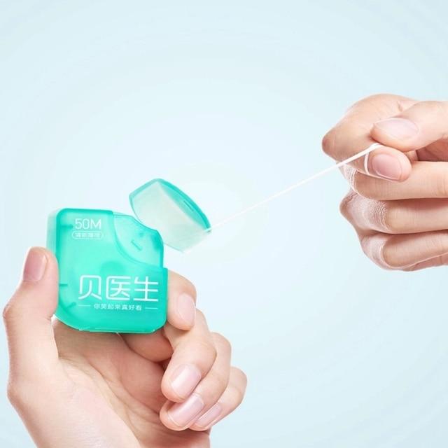 DR.Bei Fio Hilo Dental Floss Toothpick Portable Picks Teeth Toothpicks Stick Oral Care Xiomi 50pcs Cleaning  50m/box Xaomi Xiami