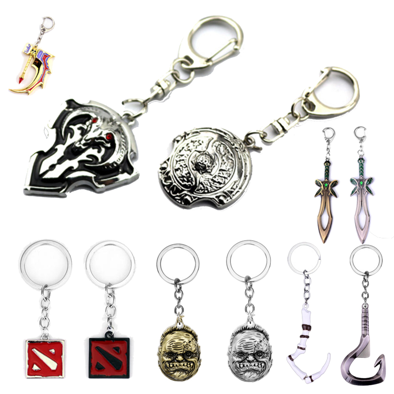 dota 2 keychain pudge toys set 2016 New Game Dota2 action figures resin weapons sword Talisman props ornaments car styling decor image