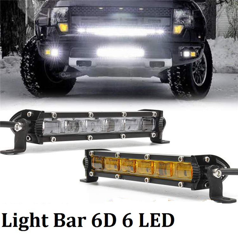 6D LED Bar Mini 18W Off Road Light Bar 4X4 Barra Led 12V Ledbar Work Lights Lamp For Offroad UAZ Tractor Truck 4wd SUV ATV Boat