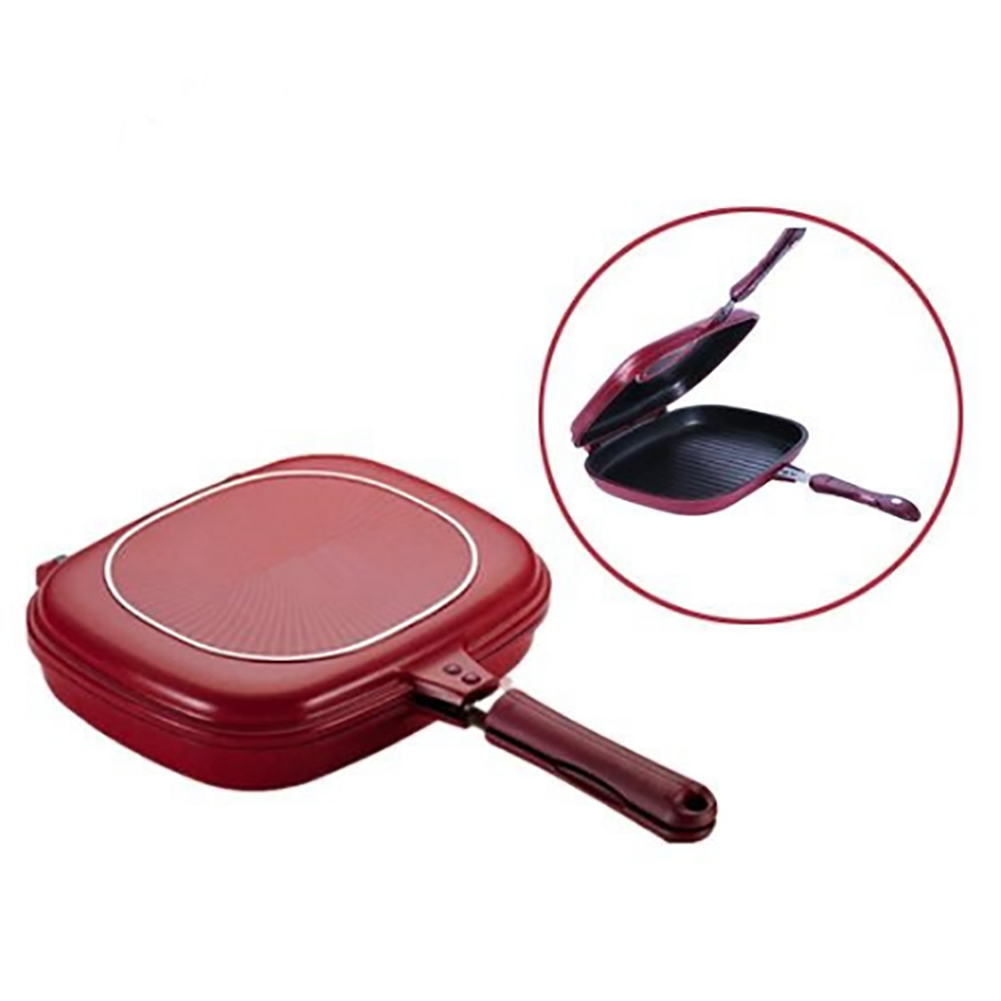 Pancake Pot Non-stick Kitchen Cookware Trays Double Sided Steak Frying Pan Square Omelette Professional Breakfast Baking
