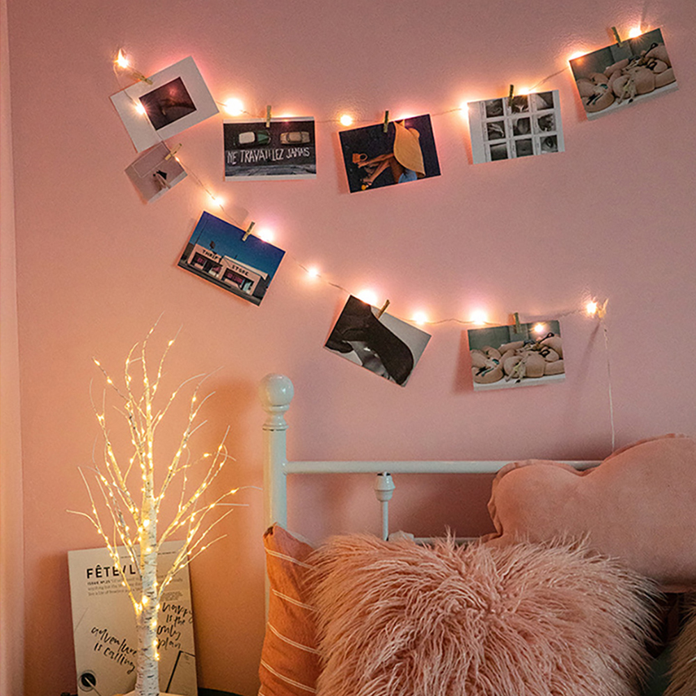 2m 5m 10m Led Garland Photo Clip String Lights Fairy Light Powered By Battery USB Wedding Party Holiday Lighting Home Decoration