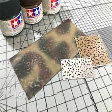 Kreatywny kamuflaż wyciek Spray szablon szablon DIY Spray płyta narzędzie dla Gundam Model wojskowy części akcesoria tanie tanio Metal 1 144 Roboty 8 lat Camouflage Leakage Spray Board Unisex EMCT1374