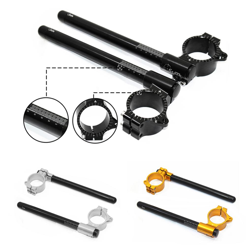 For Honda CB 650 550 750 Suzuki Yamaha Kawasaki Motorcycle 35mm CNC clip on clip ons Adjustable handle bars Fork handlebar