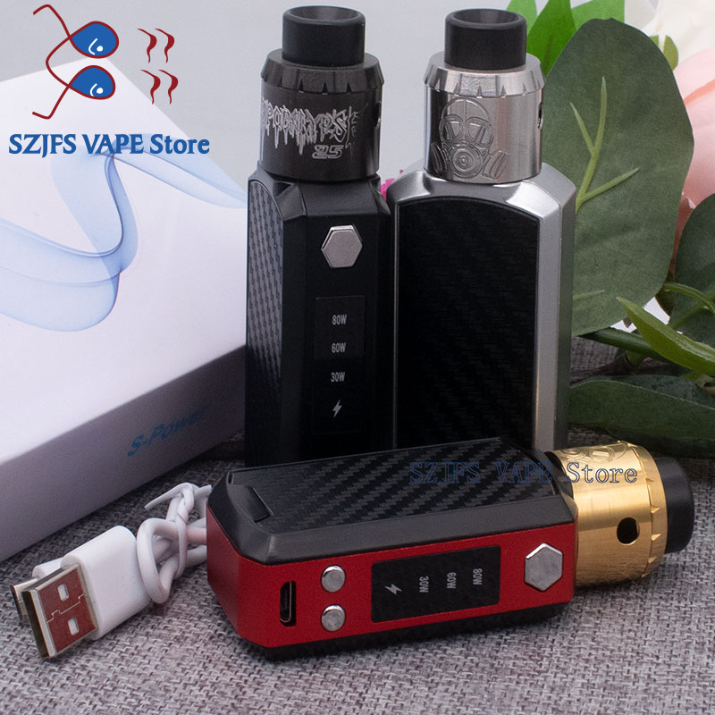 Electronic Cigarette P8 100W Box Mod Kit Huge Vapor 2200mah Bulit-in Battery Mech Box Vape Pen With E-cigarettes Vape Kit Vs V6