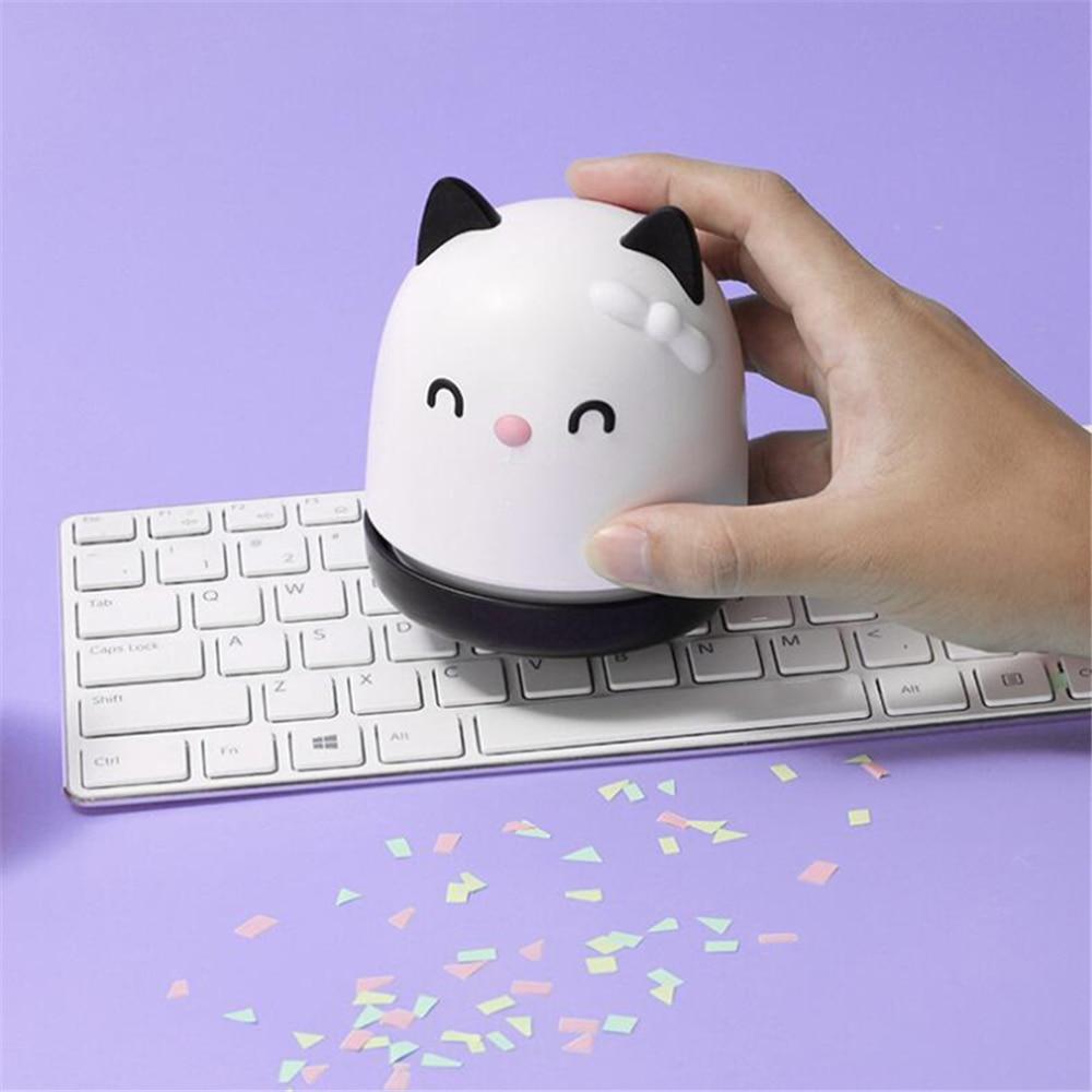 Portátil mini gato bonito desktop aspirador de