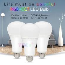 Miboxer 12W RGB+CCT LED Bulb FUT105 E27 Indoor lamp ligth 2.4G remote smartphone APP Control for Bedroom living room AC100~240V