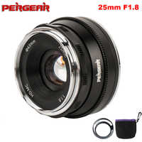 Pergear 25mm f1.8 Prime Lens to All Single Series for Sony E Mount for Fuji Mount Micro 4/3 Camera A7 A7II A7R VS 7artisans Lens