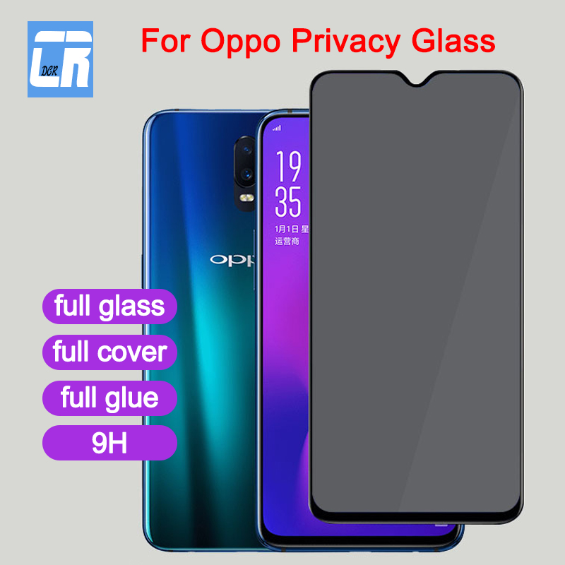 Full Cover Privacy Screen Protector Tempered Glass for OPPO R17 A7X A7 R15 R11S Plus Anti Spy Glass for OPPO F7 F9 F11 A3S Film in Phone Screen Protectors from Cellphones Telecommunications