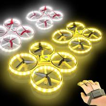 Terbang Watch Gesture Helikopter UFO RC Drone Tangan Inframerah Flayaball Elektronik Quadcopter Interaktif Induksi Drone Mainan Anak(China)