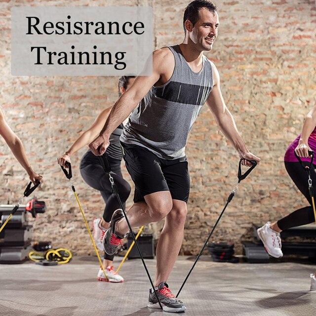 11 Pcs Resistance Bands Set Bodybuilding Expander Stretchy Gum Sports Workout Elastic Band For Training Rubber Bands For Fitness 2