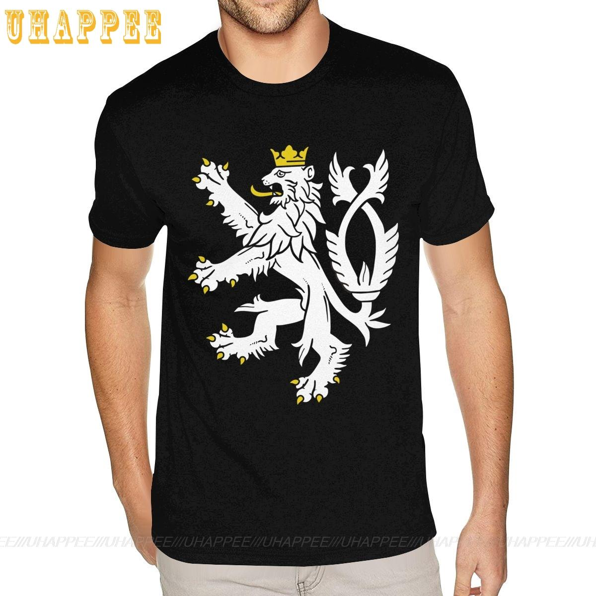 Shirts Man Coat Republic Short-Sleeves Fitness Branded-Top Boy Apparel Tees Arms-Of-The-Czech