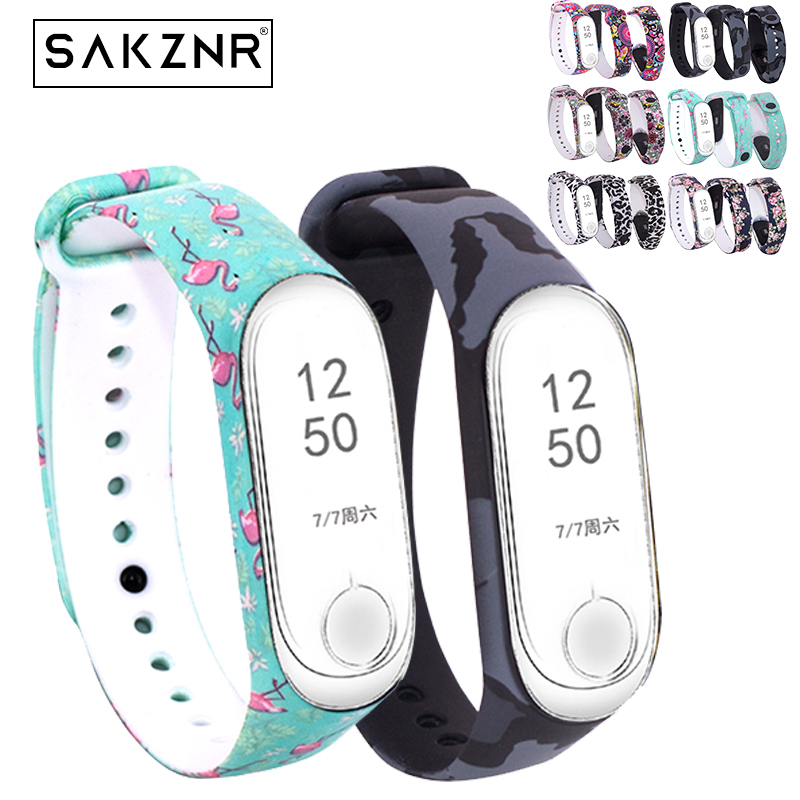 Fashion Watch Band For Xiaomi Mi Band 3 Painted Sport Strap Watch Silicone Wrist Strap For Mi Band 3 Accessories Bracelet Miband