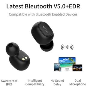 Image 3 - 2018 QCY T1 TWS Mini Bluetooth Cuffie Auricolari Stereo Bass Auricolare Auricolari con Il Mic Casella di Ricarica Per Tutti I Telefoni Senza Fili