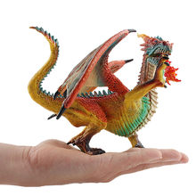 Model Fire Breathing Dinosaurs Toy Figure Realistic Dinosaur Model Kids Birthday Gifts kids toys juguetes brinquedos игрушки New(China)