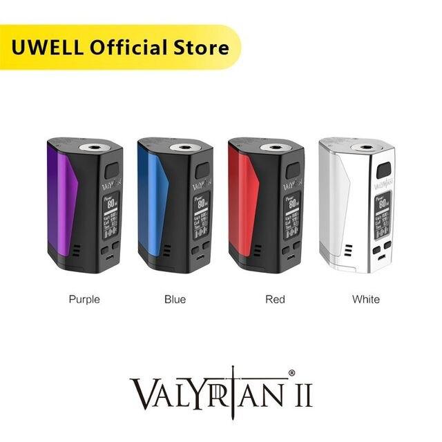 UWELL Valyrian II MOD Triple 18650 แบตเตอรี่ 300W อิเล็กทรอนิกส์บุหรี่ VAPE MOD ไม่มีแบตเตอรี่