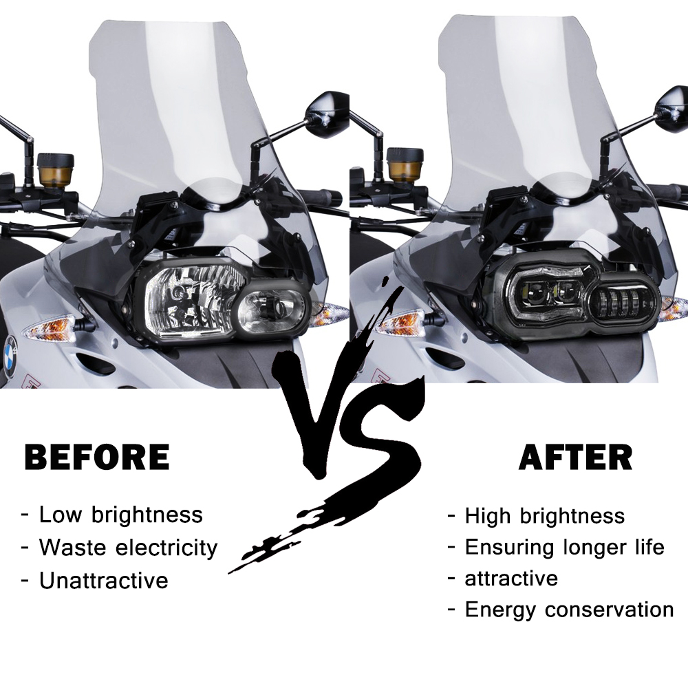 Hot DealsHeadlight Led-Projector-Headlight-Assembly Motorcycle-Lights F700GS F650GS Adventure