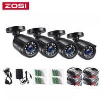 ZOSI 4pcs/lot 1080p HD-TVI CCTV Security Camera ,80ft Night Vision ,Outdoor Whetherproof Surveillance Camera Kit