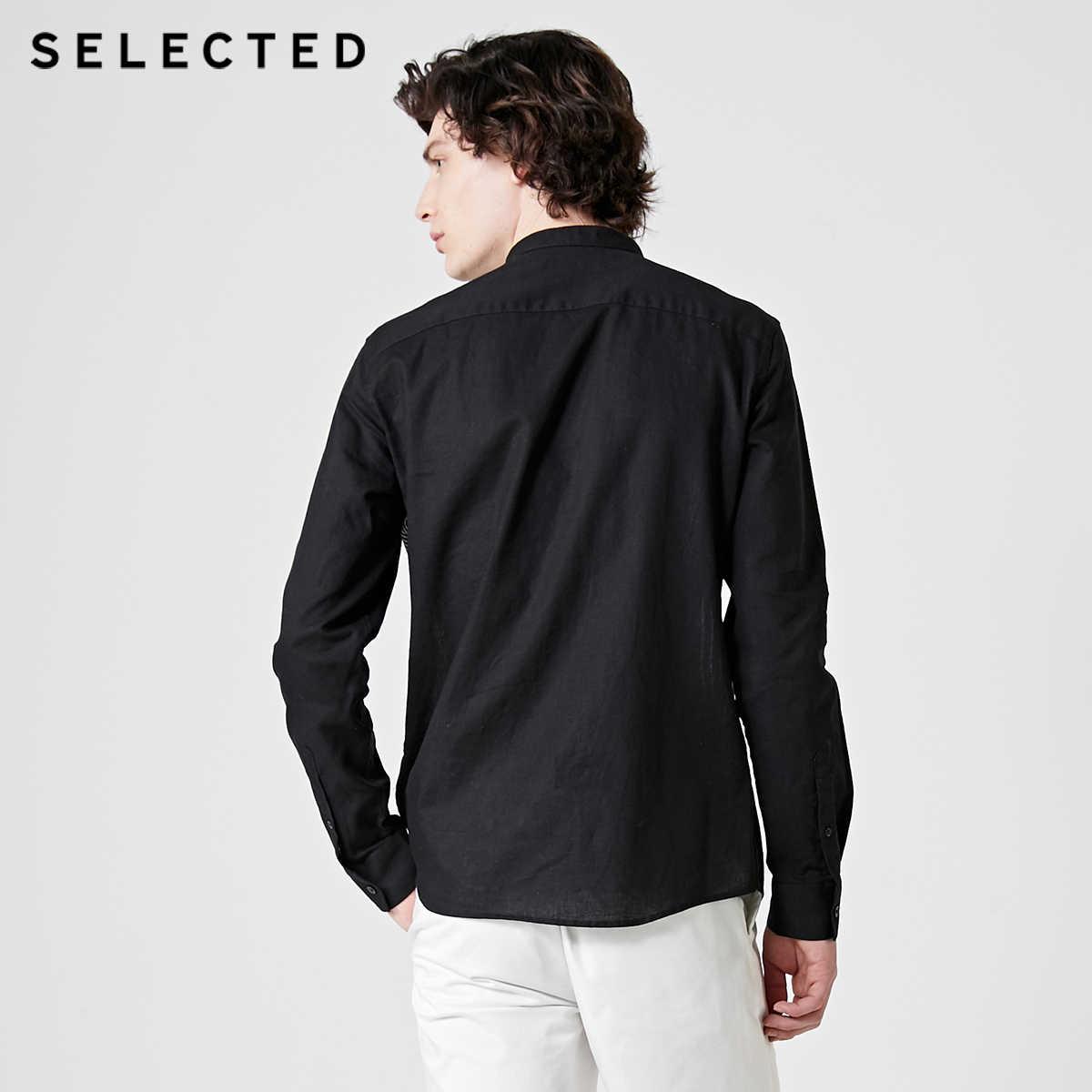 SELEZIONATO da Uomo Slim Fit In Cotone e Lino A Righe Camicia a maniche lunghe S | 419105559