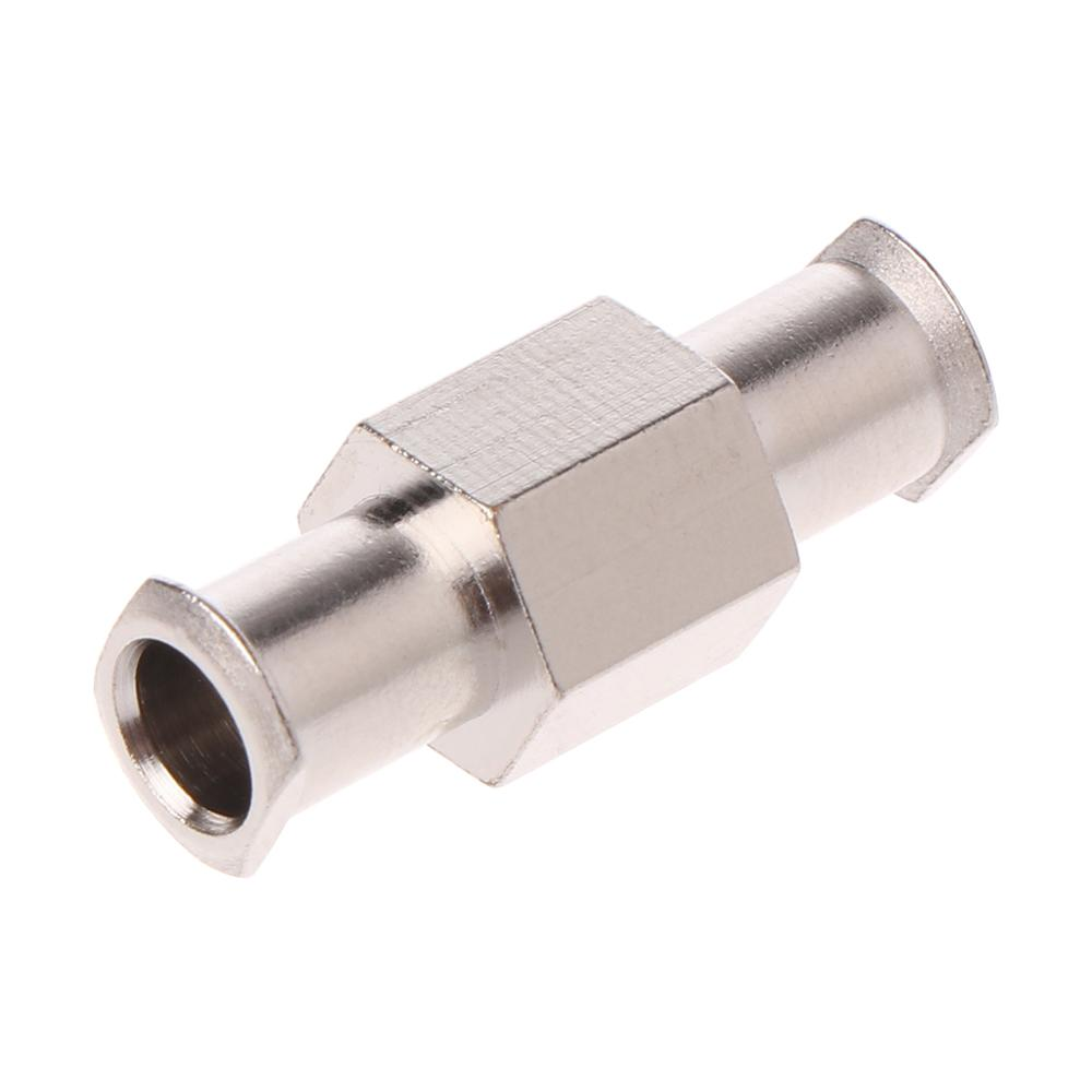1pcs Luer Lock Adapter Coupler Nickel Plated Brass Female To Female Fittings Connector With 4mm Aperture