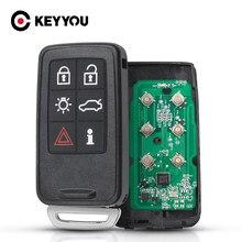 KEYYOU Für Volvo KYDZ S40 S60 S60L S80 V40 V60 XC60 XC70 5 Taste Smart Schlüssel KR55WK49264 Smart Auto Schlüssel 434Mhz 2007-2013