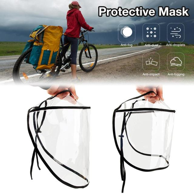 Hot Sell Transparent Virus Protection Mask Creative Protective Face Mask Isolation Anti-saliva Windproof Dust-proof Face Shield