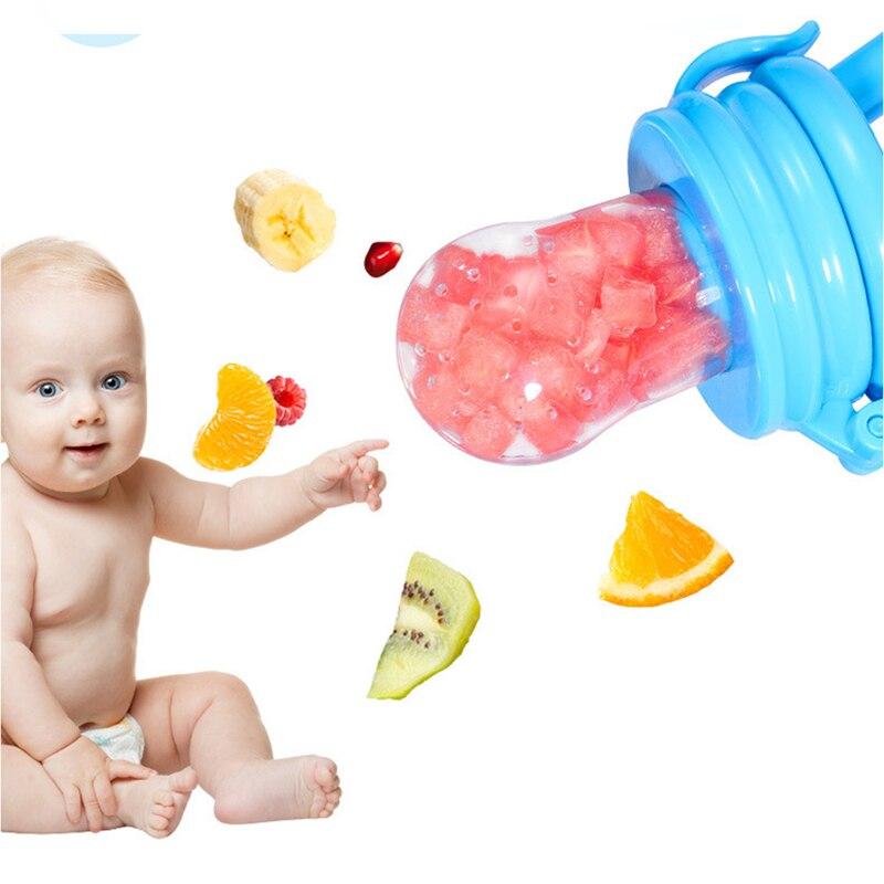 5Pcs Fresh Food Nibbler Baby Pacifiers Feeder Kids Fruit Feeder Nipples Feeding Safe Baby Supplies Nipple Teat Pacifier Bottles