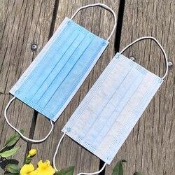 100pcs Usa E Getta 3 Maschera di Livello di Evitare Che La Polvere Respiratore Outdoor Home Traspirante Protezione Respiratori di Un Tempo di Uso di Maschere 001