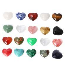 Jewelry Crystal-Stone Chakra-Healing Quartz Heart-Shape Mini 20-Colors 18mm Handmade