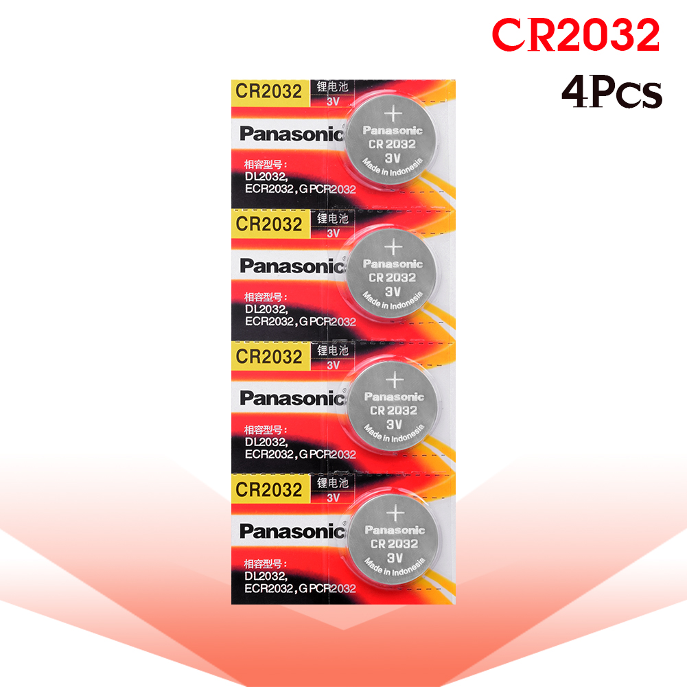 <font><b>PANASONIC</b></font> 4pcs CR2032 Coins <font><b>Battery</b></font> CR <font><b>2032</b></font> <font><b>2032</b></font> Button Pilas For Men Women Watches Computer Motherboard Toys Clock Long Lasting image