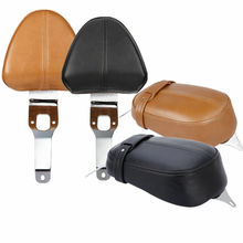 Motorcycle Driver Backrest Support Leather Pad For Indian Scout 2015-2018 Sixty 2016-2018 chrome steel driver backrest support for indian scout sixty 2016 2017 2018 scout sixty motorcycle