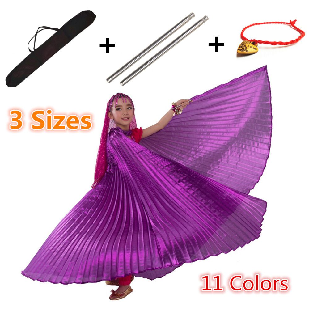 Belly Dance Wings Isis Wings Bellydance Children Robs Sticks Bag Belly Dancing Costumes Belly Dance Egypt Girls Kids Gold Black