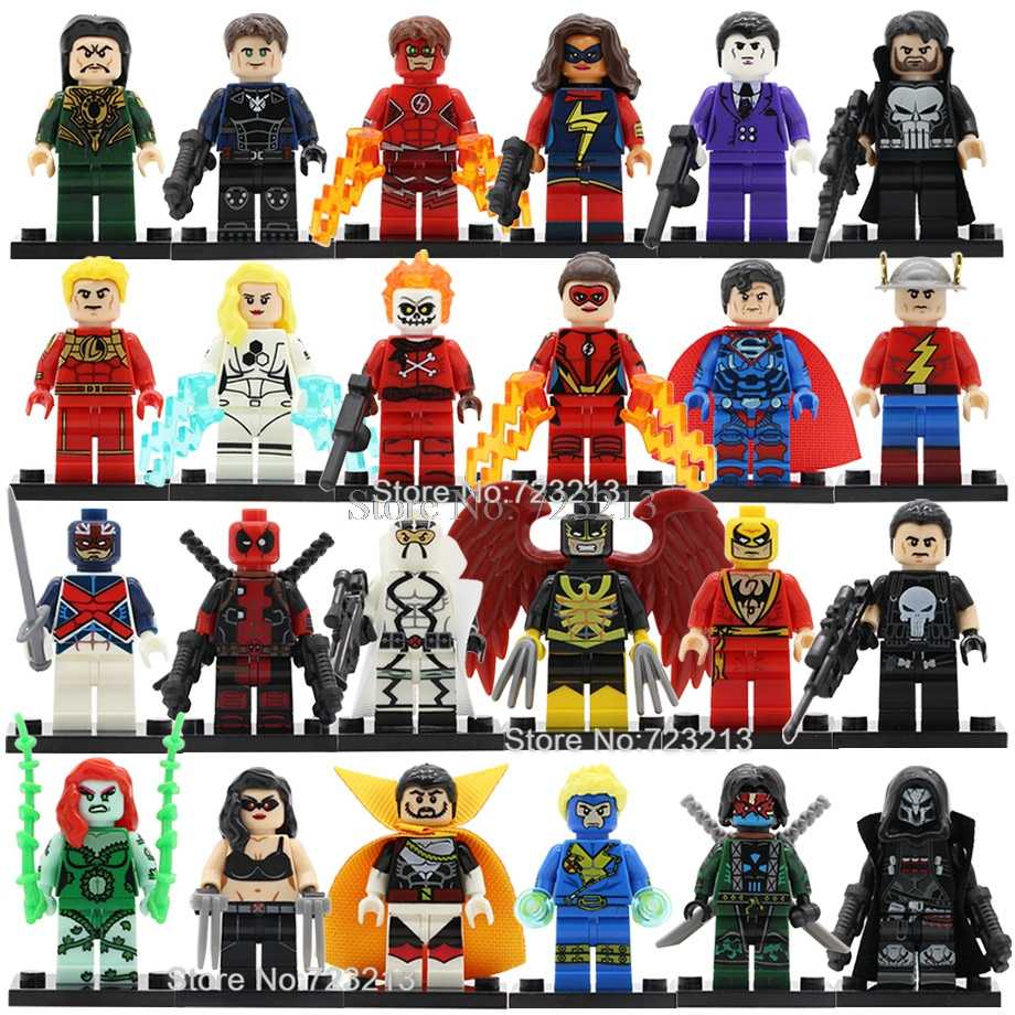 Single Super Hero X-23 Laura Gabriel Reyes Fantomex Figure Poison Ivy Deadpool Iron Fist Human Building Blocks Toys Legoing