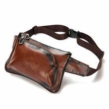 2019 New Chest Bag men Leather Men Shoulder Casual Brown Cowhide Mens Messenger