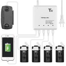 6 in 1 mavic mini drone pil şarj cihazı USB şarj portu ile uzaktan kumanda şarj dji mavic mini drone