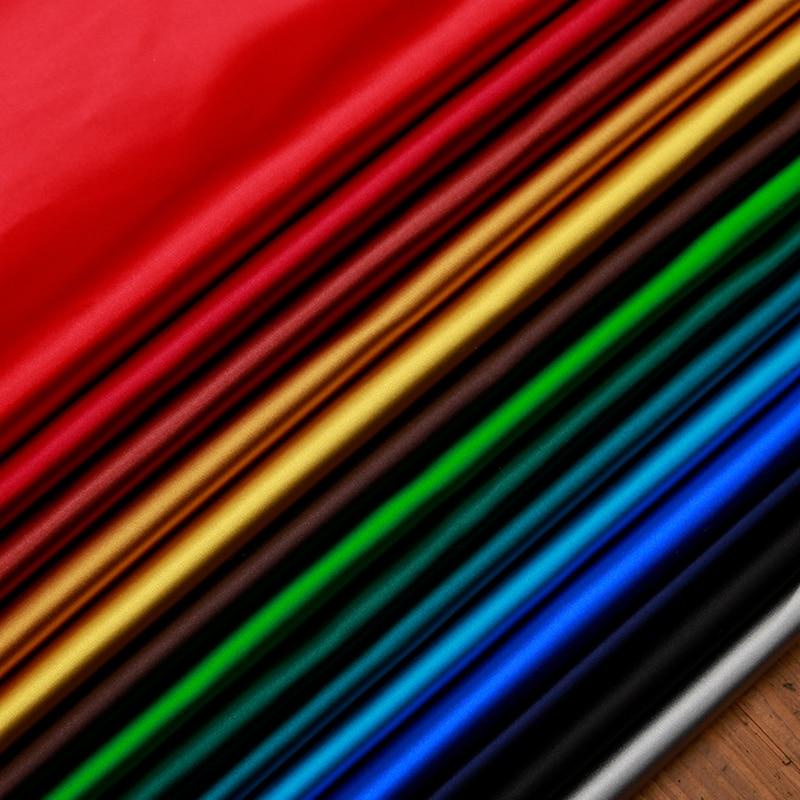 Сатин искусственный шелк парча ткани однотонные Материал для шитья DIY ручной работы Рукоделие