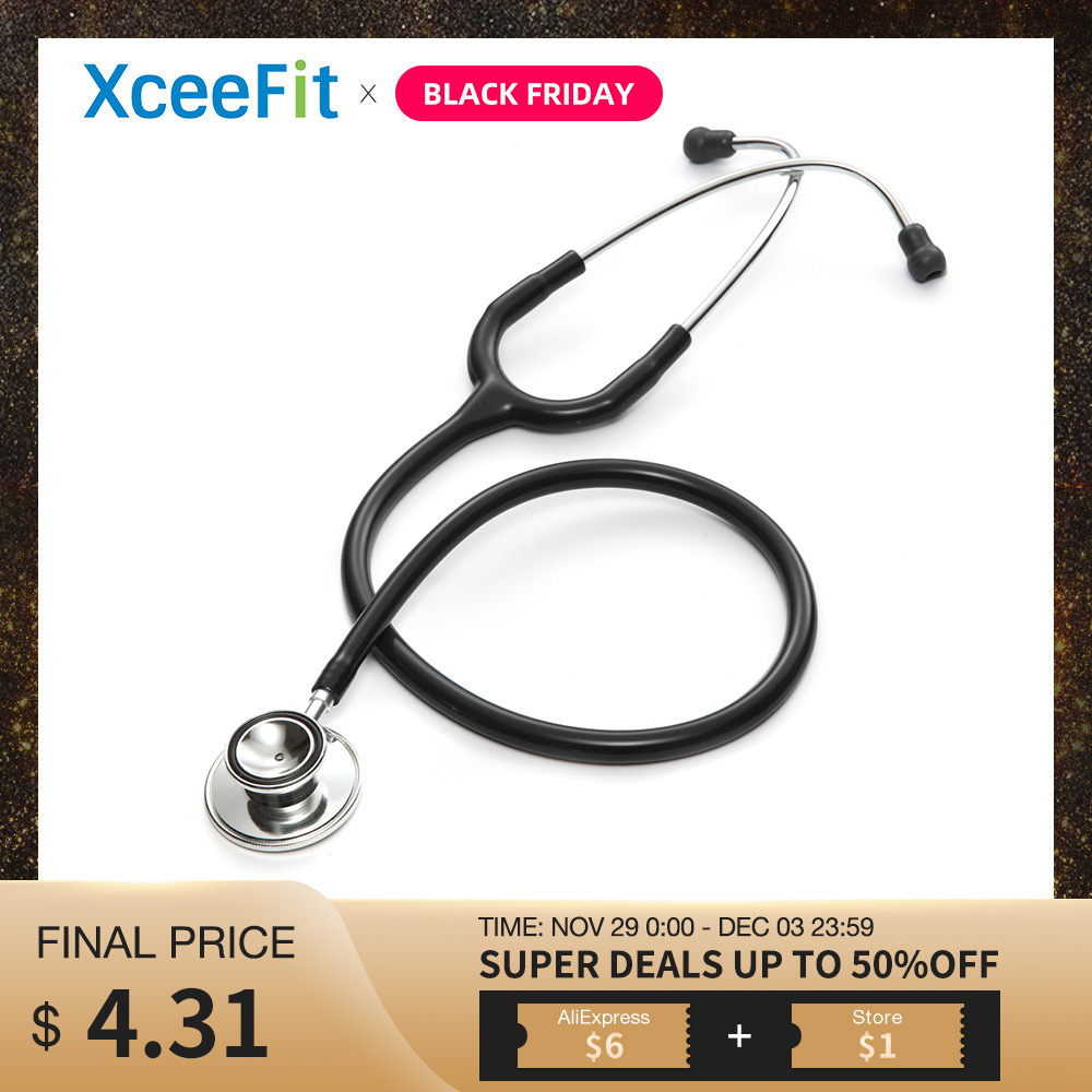 Professional Dual Head Stethoscope Double Head Cardiology Stethoscope Doctor Nurse Vet Medical Equipment Medical Student Device