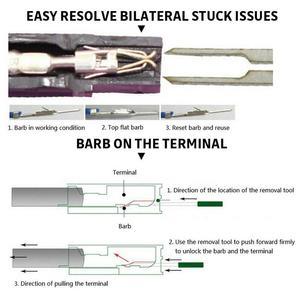 Image 4 - 73 Uds Terminal de cable herramienta de eliminación de coche eléctrico pinza de presión para cables Pin Kit de automoción Terminal quitar Accesorios