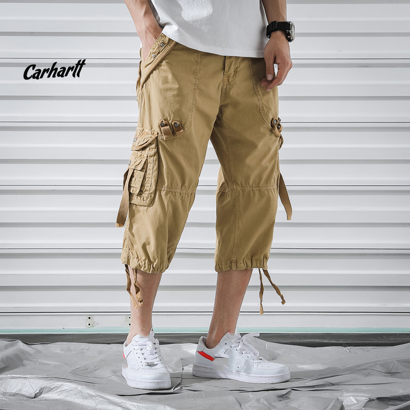 Mens Military Cargo Shorts 2019 Summer Brand New Army Tactical Shorts Cotton Loose Work Casual Short Plus OverSize