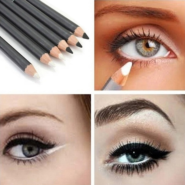 2Pcs Black Smooth Waterproof EyeLiner Eyebrow Pencil Long Lasting Eye Brow Tattoo Dye Tint Pen Cosmetics Eye Makeup Beauty Tool 2