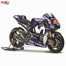 Maisto 1:18 2018 Yamaha Factory Racing Team NO:25 original authorized simulation alloy motorcycle model toy car Gift collection 1 10 maisto motorcycle toy alloy yamaha honda motorbike model racing motor miniature car models kids toys gift