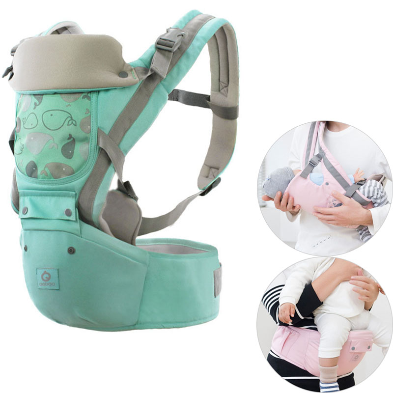 Ergonomic Baby Carrier Infant Baby Hipseat Waist Carrier Front Facing Ergonomic Kangaroo Sling for Baby Travel 0 36M 20KG-in Backpacks & Carriers from Mother & Kids on AliExpress