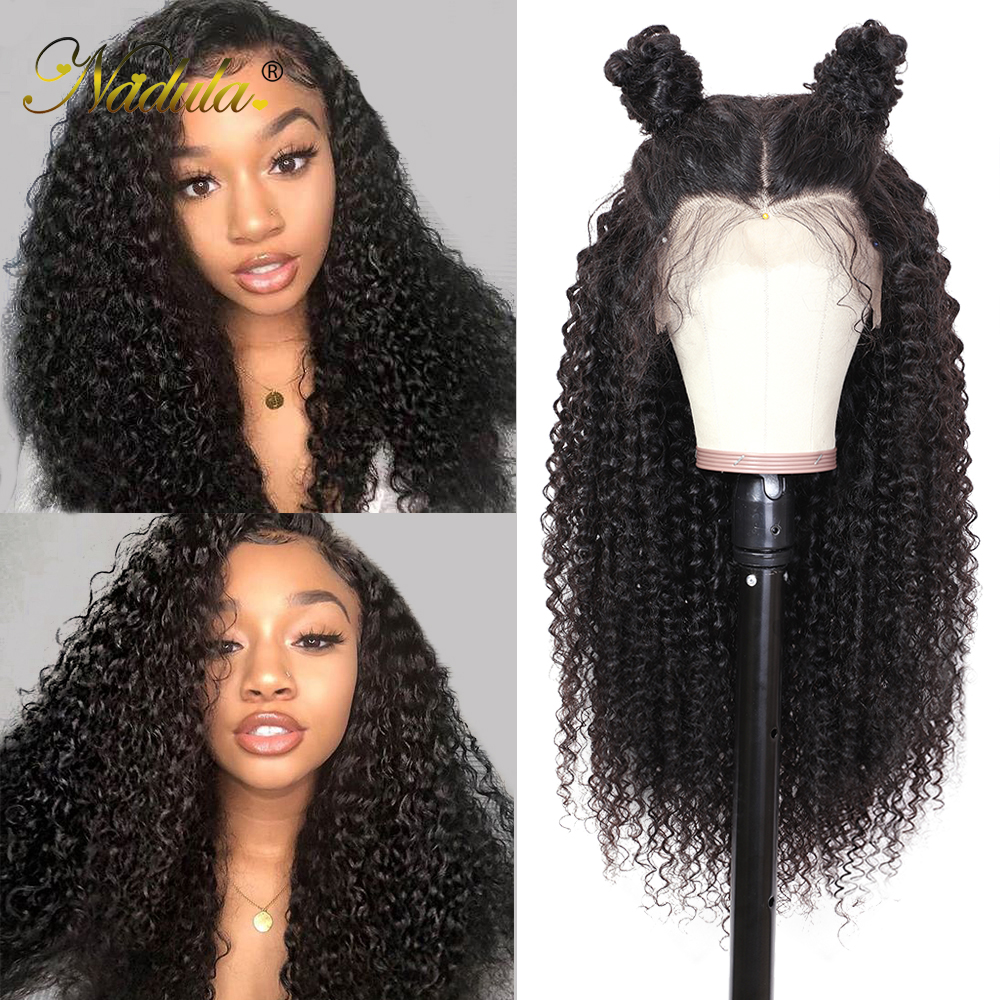 Nadula Curly Human Hair Wig 13*4/6 Brazilian Wigs Lace Front Remy Hair Swiss Lace Frontal Wig Natural Hairline With Baby Hair
