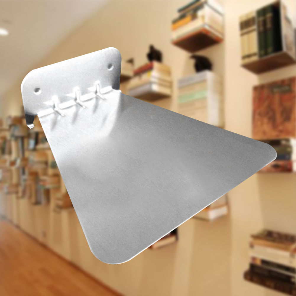 Invisible Stainless Steel Stand Floating Book Shelf Home Decoration Office School Study Wear Resistant Support Wall Mounted