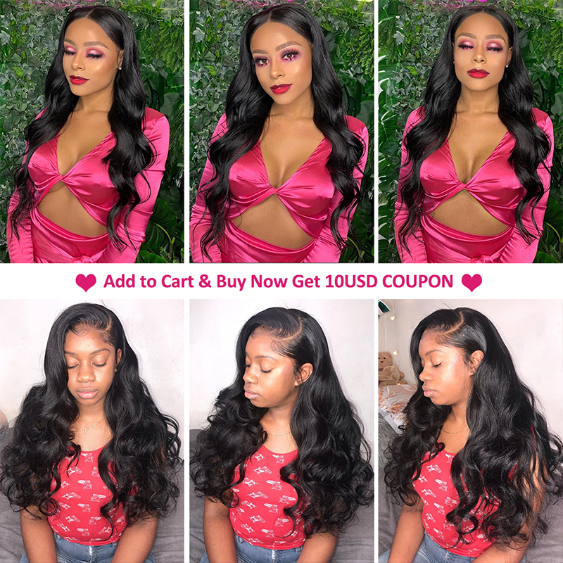 Body Wave 13x6 Lace Front Human Hair Wigs For Black Women Pre Plucked Hairline 13x4 Lace Front Wig 8-26inch Peruvian Remy Hair